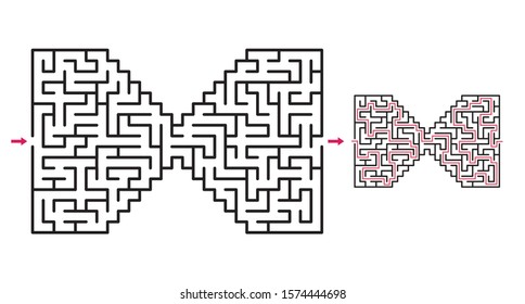 Abstract maze / labyrinth with entry and exit. Vector labyrinth 274.