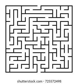 Abstract maze labyrinth with entry and exit. Vector labyrinth