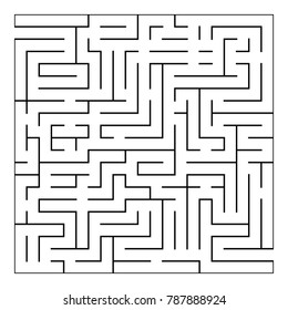 Abstract maze labyrinth with entry and exit. Vector illustration EPS 10