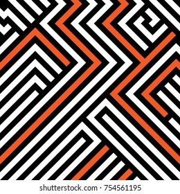 Abstract maze / labyrinth  seamless pattern