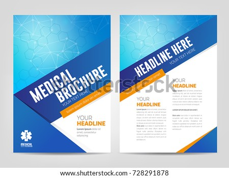 abstract medical background flyer brochure template stock vector