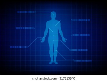 Abstract Medical body background. illustration design.