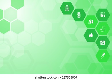 Abstract Medical green background