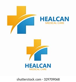 Abstract medical hospital logo template