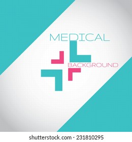 Abstract medical hospital pharmacy sign turquoise editable background