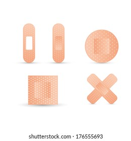 abstract medical objects on a white background
