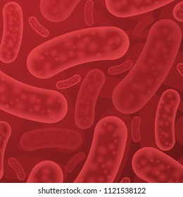 Abstract medicine blood background with red micro organisms