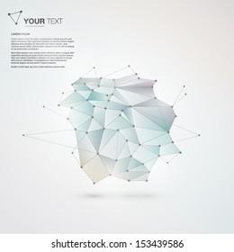 Abstract mesh background futuristic design