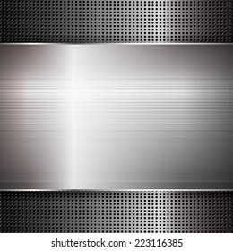 Abstract metal texture. Vector illustration