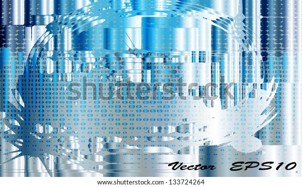 Abstract metallic background.Vector