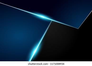 abstract metallic blue black frame layout modern tech design template background