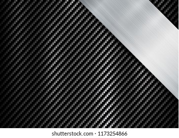 abstract metallic frame carbon kevlar texture design template background