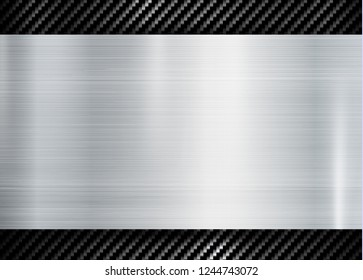 abstract metallic frame on carbon kevlar texture pattern tech sports innovation concept background.
