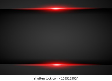 abstract metallic red black frame layout modern tech design template background , Black and red background. Vector graphic template design