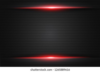 abstract metallic red black frame layout modern tech design template background , Black and red background. Vector graphic template design - Vector