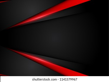 abstract metallic red black layout design tech innovation concept background .vector illustration.