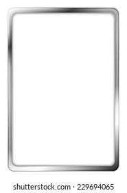 Abstract metallic silver vector frame