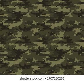 Abstract military texture camo khaki background seamless pattern modern print