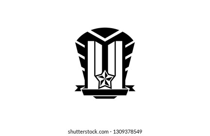 Abstract Millitary Style Logo Vector