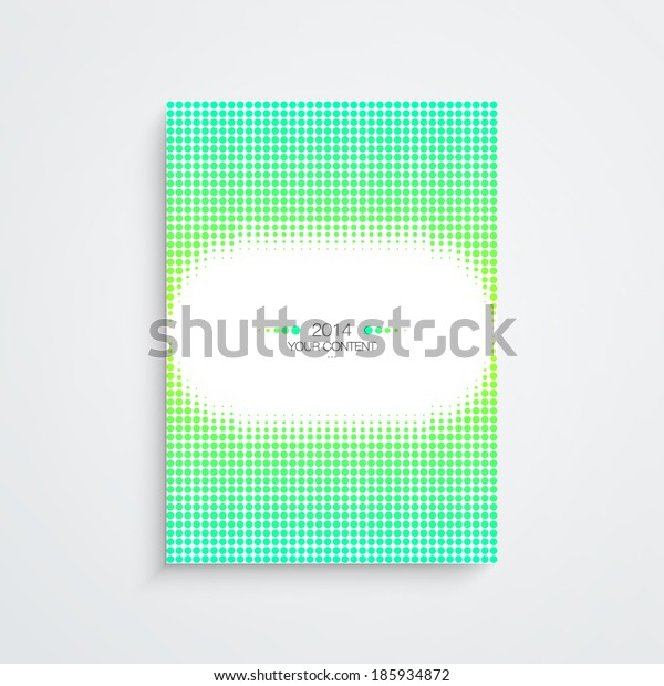 Abstract minimal A4 / A3 format poster design with your text Eps 10 stock vector illustration