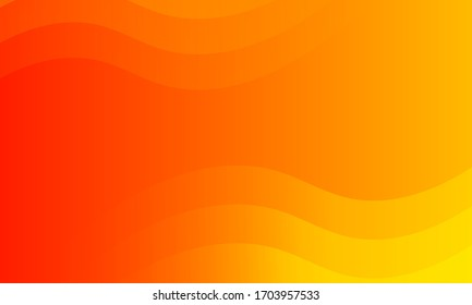 abstract minimal background with orange color, beautiful wave background.