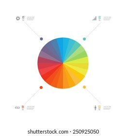 Abstract minimal colorful infographic design with web icons and your text  Eps 10 stock vector illustration