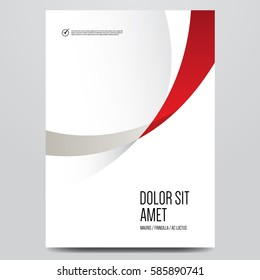 Abstract minimal cover or poster design template. Vector illustration.