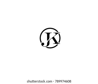 Abstract, Minimal and creative alphabet letters Jk, KJ, K and J logo