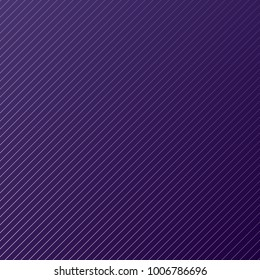 Abstract minimal design stripe and diagonal lines pattern on purple background and texture. Vector illustration.