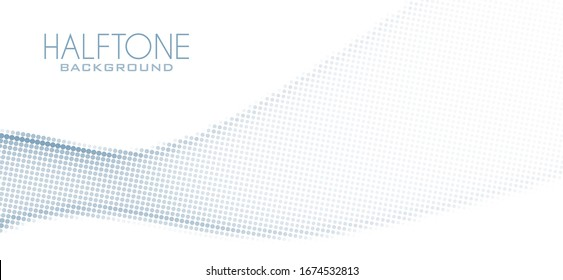 Abstract minimal dotted gray background with halftone effect. Simple vector graphics