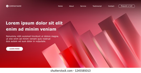 Abstract minimal geometric and colorful shapes design background for header site. Vector modern of landing and website template with gradient style.