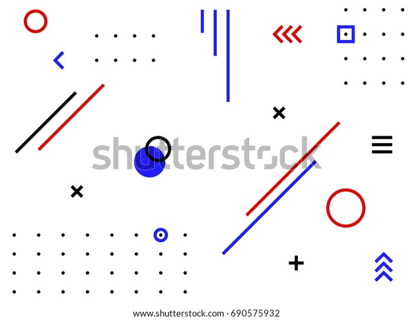 Abstract Minimal Geometric Shapes Vector Stock Vector