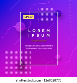 Abstract Minimal geometric vector multicolored background with shadow, dots and lines. Dynamic shapes composition. Eps10 vector