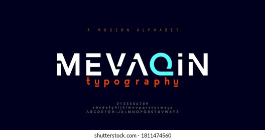 Abstract minimal modern alphabet fonts. Typography minimalist urban digital fashion future creative logo font. vector illustration