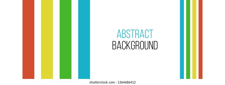 abstract minimalistic asymmetric vector background with 4 color lines