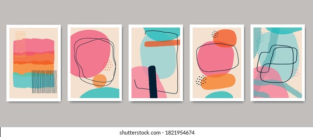 Abstract minimalistic cover geometric pattern background. Colorful design for flyer, brochure, poster, wall decoration.