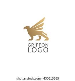 Abstract minimalistic logo of creature. Universal premium elegant creative symbol.