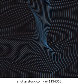 abstract minimalistic wave curves, visual halftone effect, illusion of movement, op art pattern, dynamical ripply surface, background