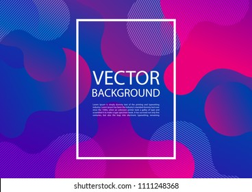 Abstract mixing of colors and lines in a beautiful combination. Modern vector template for design of posters and much more.