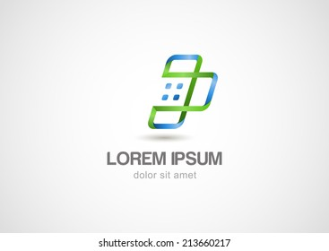 Abstract mobile phone logo template. Smartphone Connection vector icon.