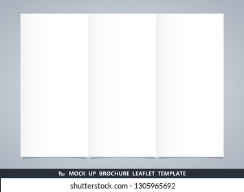 Abstract mock up white brochure leaflet template. You can use for ad info. illustration vector eps10