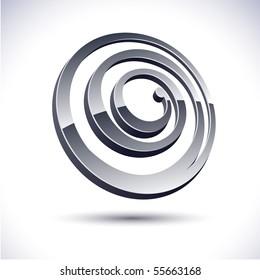 Abstract modern 3d spiral logo. Vector.