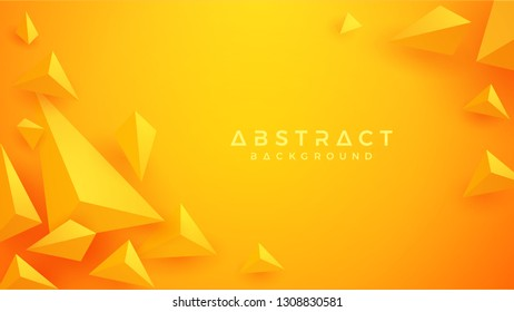 Abstract, Modern, 3D Triangle orange, yellow Background. Eps10 vector background.