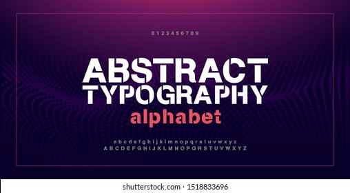 Abstract modern alphabet fontsand numbers. Typography electronic digital game music future creative urban font design concept. vector illustraion