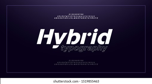 Abstract modern alphabet italic fonts and numbers. Typography thin line sport game music future creative urban font design concept. vector illustraion