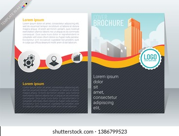 Abstract modern Background Creative Design, Business Brochure, T