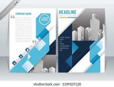 Abstract Modern Background Design, Business Brochure Template, Flyer, Poster, Annual Report, Front and back, CMYK Color mode, in A4 Size-vector illustration