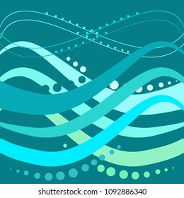 Abstract modern background. Fashion graphic ribbon design. Modern stylish abstract texture. Colorful template for prints, textile, wrapping, business, etc. Vector illustration
