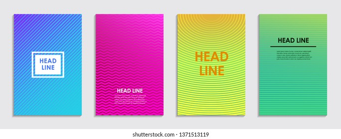 Abstract modern background. Geometric lines. Colorful gradient. Vector