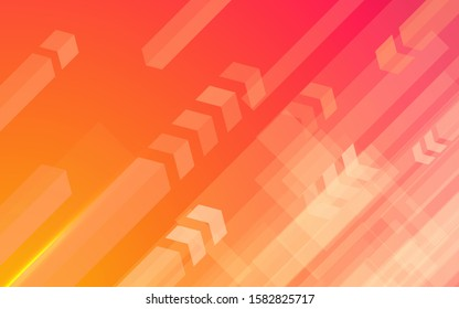 Abstract modern background gradient color. Orange and pink gradient with arrow decoration.